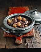 Greeks Stifado in an elegant braising pot