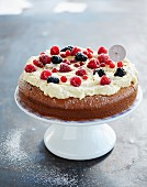White chocolate cake with fruit