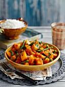 Cremiges Kürbis-Bohnen-Curry