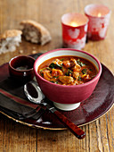 Lamb soup with red curry