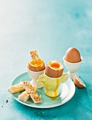 Boiled eggs and soldiers