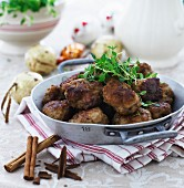 Beef meatballs with cinnamon