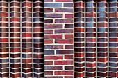Detail of a brick wall on the Brahms Kontor, an office building on Johannes-Brahms-Platz, Hansestadt Hamburg