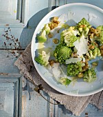 Steamed Romanesco broccoli with hazelnut butter