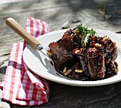 Oxtail and red wine ragout with celery and pine nuts