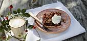 Bavarian damson cake with cream