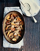 Quick roast pork with rosemary and caramelised apples
