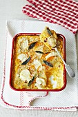 Butternut squash and goat's cheese bake with sage