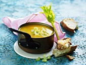 Cream of vegetable soup with celery