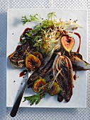 A warm winter salad with figs
