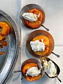 Baked apples with horseradish cream