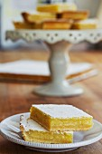Lemon slices with icing sugar