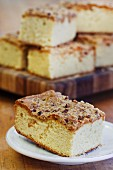 Coffee cake, sliced