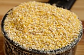 Coarsely ground corn flour for polenta