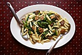 Cavatelli with sausage and rapini (Italy)