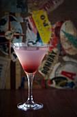 Pinkfarbener Himbeer-Martini