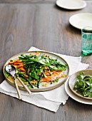 Escalopes of ocean trout with spring vegetables