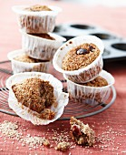 Wholemeal nut muffins with cranberries