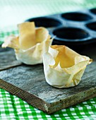 Filo pastry baskets
