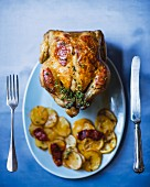 Lemon and chorizo chicken with thyme