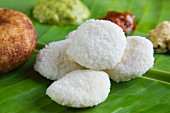 Idli (steamed rice cakes, India)