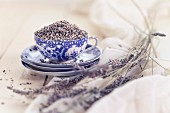 Lavender in a teacup
