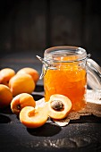 Apricot jam and apricots