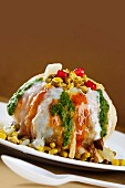 Raj kachori (stuffed, fried dumplings, India)