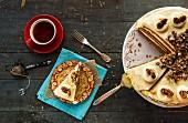 A pecan-carrot cake and tea