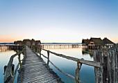 Pfahlbauten in Unteruhldingen, UNESCO World Heritage site, Lake Constance