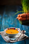 Carrot soup with chives