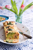 Vegetable and bacon cake