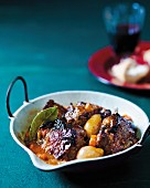 A pan of oxtail ragout