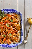 Crayfish curry on a bed of rice (Portugal)