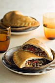 A meat and pepper pasty