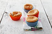 Muffins in red and blue paper cases