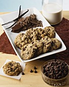 Chocolate chip cookies with ingredients
