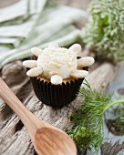 Chocolate and almond cupcake