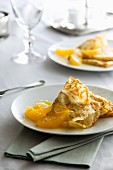 Crepes Suzette with oranges