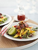 Beef salad with mango and chilli (Asia)