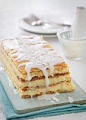 Cream slices with icing