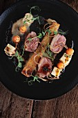 Fillet of lamb with accompaniments