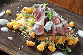 Lamb with couscous and apricots (Morocco)