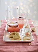 Parmesan and rosemary biscuits and a champagne cocktail