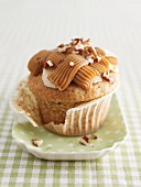 Frosted Banana Toffee Cupcake