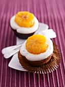 Lebkuchen-Cupcakes mit Zimtcreme und Mandarine