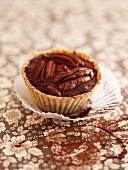 A pecan nut cupcake