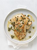 Turkey escalope with capers and lemon