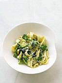 Pappardelle with wild broccoli and grated cheese