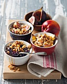 Blueberry, nectarine and fig crumble
